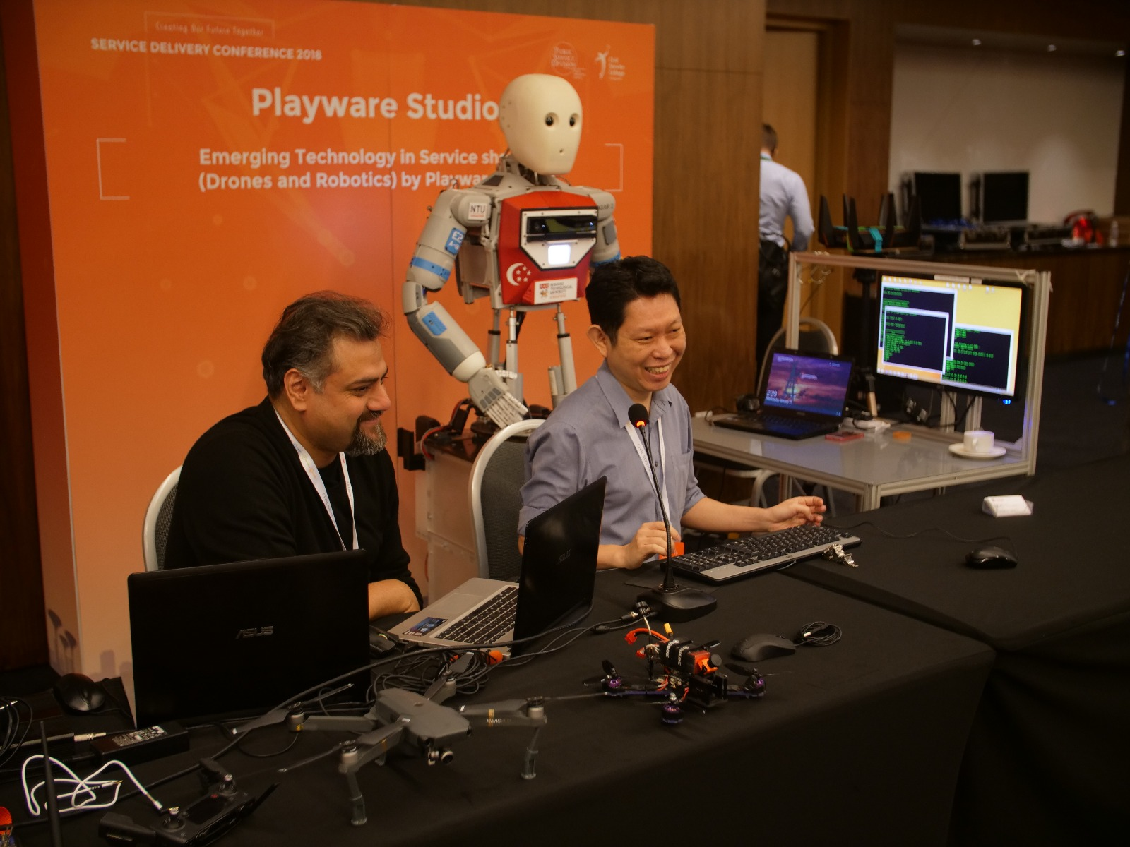 Drones showcase by Playware at SDC 2018